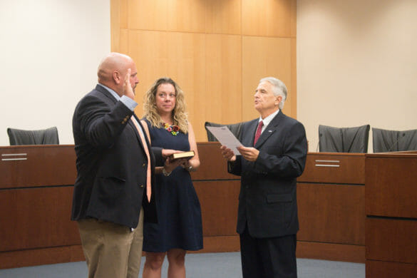 New Rec and Parks director being sworn in