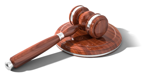 Transparent image of gavel