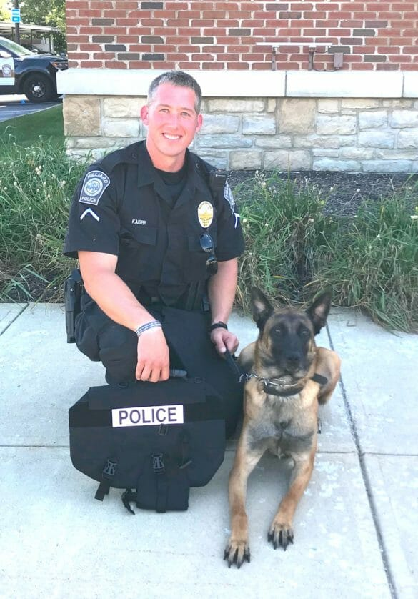 Police officer with Police K9