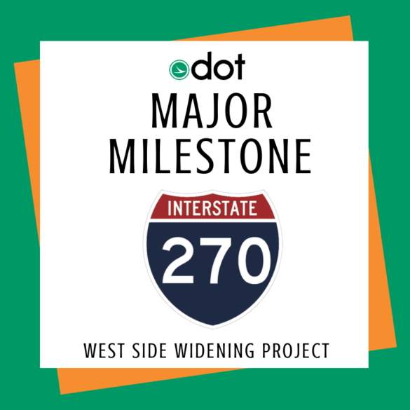 ODOT major milestone banner