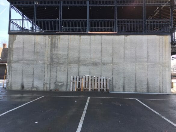Wall location for proposed public art mural