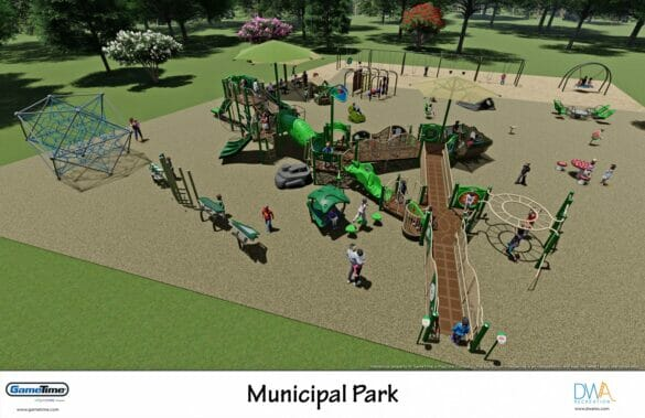 Mock up of playground at Municipal Park