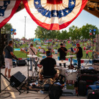 A band performing at the 4th of July