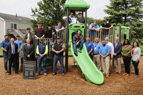 The City of Hilliard, Worthington Industries, and students who helped make Hayden Run Village Playground
