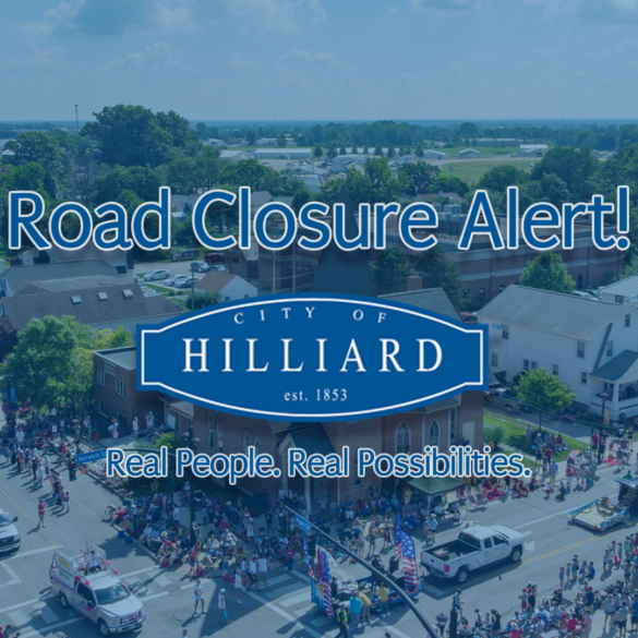 road closure banner