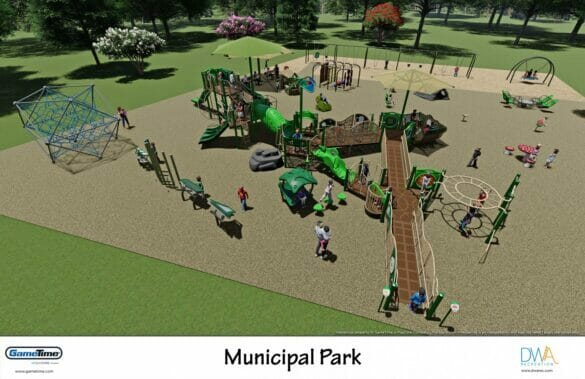 Rendering of the new Municipal Park