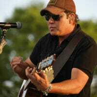 Rodney Atkins playing the guitar