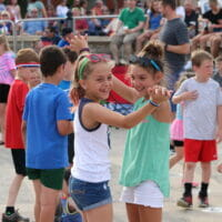 Kids dancing at Celebration at the Station