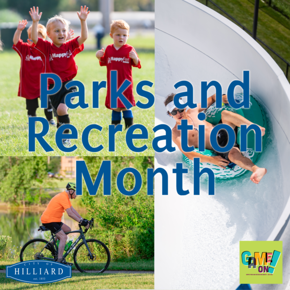 Sign for Parks and Rec Month