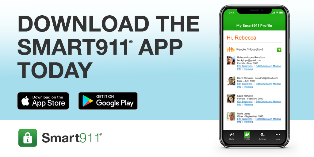 Ad for Smart 911 app
