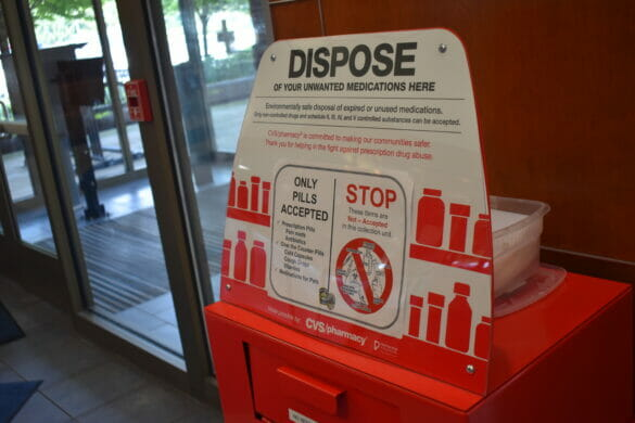 drug drop off box at the HPD