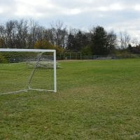 soccer net and baseball diamond