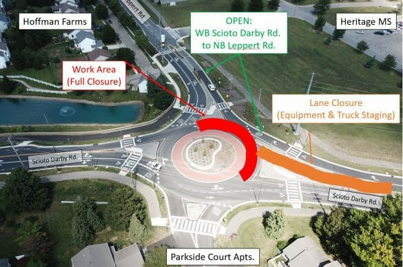 roundabout construction map