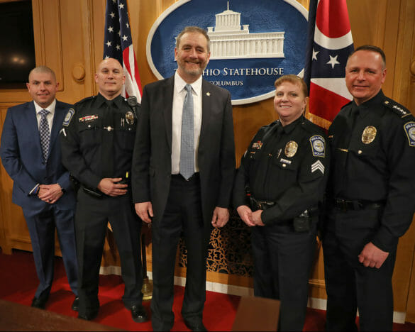 Hilliard officers at Ohio state house