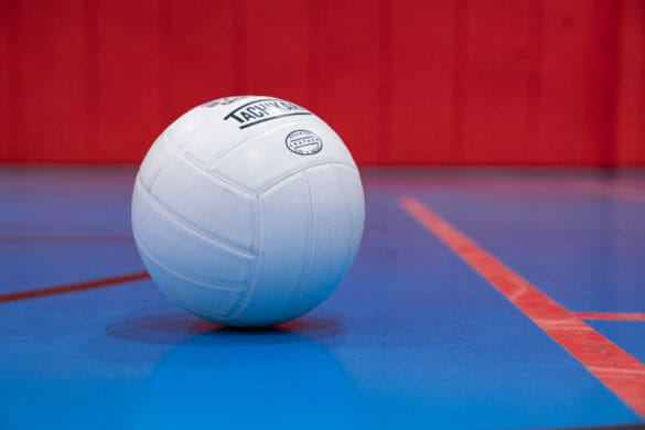 volleyball on court
