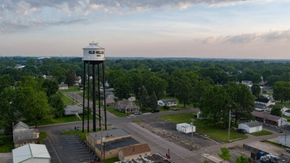 The City of Hilliard with the water tower in the skyline