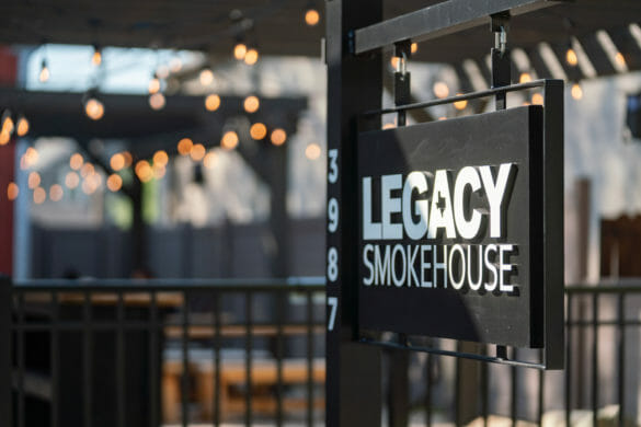 Legacy Smokehouse sign