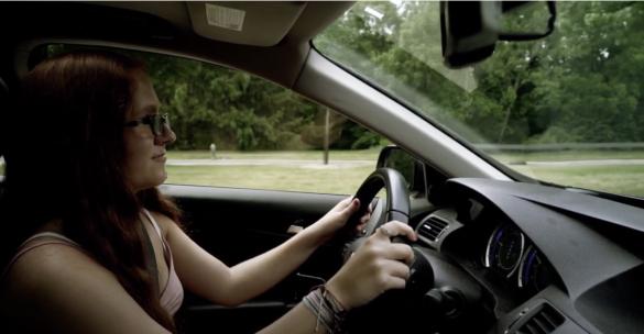 teenage girl driving