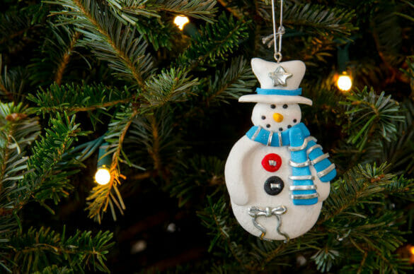 a snowman ornament