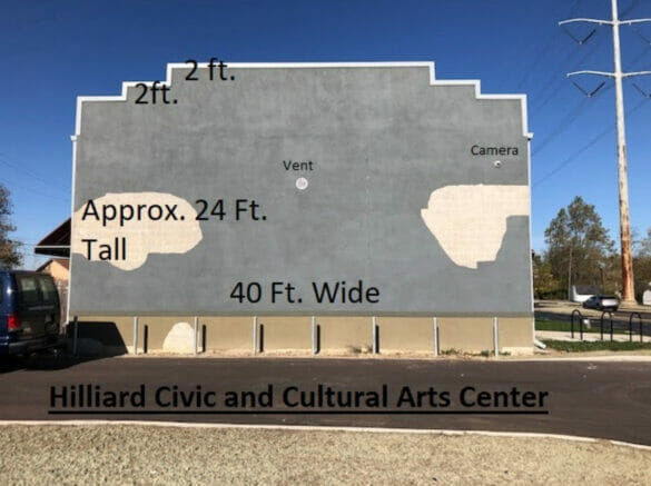 Hilliard Civic and Cultural Arts Building wall