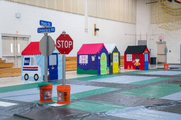 Fake village for Safety Town