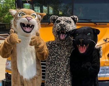 Hilliard City School District mascots: Davidson Wild Cats, Darby Panthers, and Bradley Jaguars