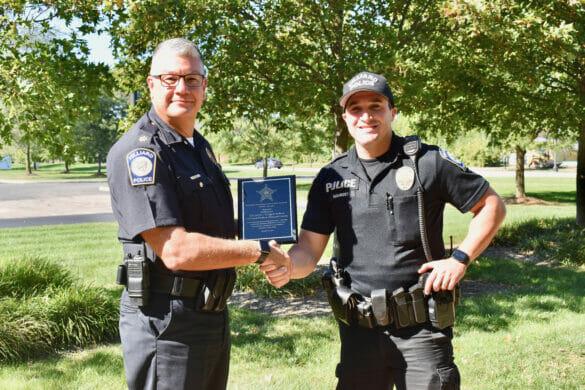 Officer Gigandet receiving Star award